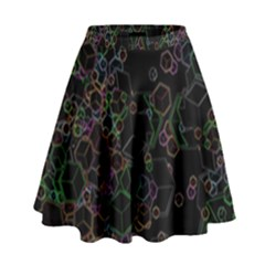 Boxs Black Background Pattern High Waist Skirt