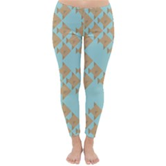 Fish Animals Brown Blue Line Sea Beach Classic Winter Leggings