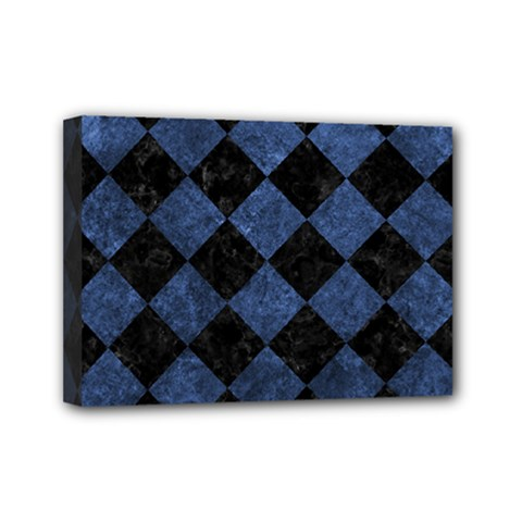 Square2 Black Marble & Blue Stone Mini Canvas 7  X 5  (stretched)