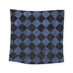 Square2 Black Marble & Blue Stone Square Tapestry (small) by trendistuff