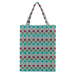 Large Circle Rainbow Dots Color Red Blue Pink Classic Tote Bag