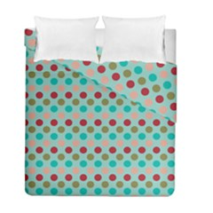 Large Circle Rainbow Dots Color Red Blue Pink Duvet Cover Double Side (full/ Double Size) by Alisyart