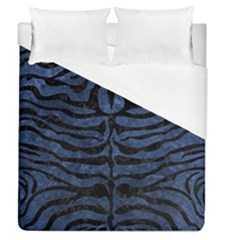 Skin2 Black Marble & Blue Stone (r) Duvet Cover (queen Size) by trendistuff