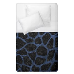 Skin1 Black Marble & Blue Stone (r) Duvet Cover (single Size) by trendistuff
