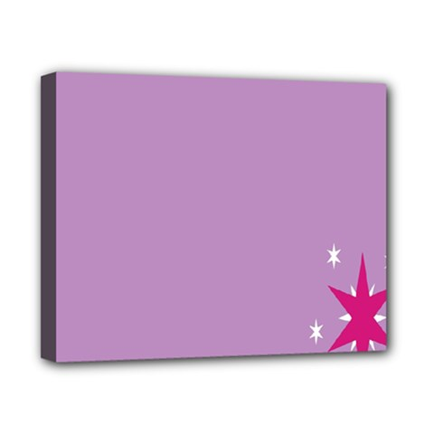 Purple Flagred White Star Canvas 10  X 8  by Alisyart