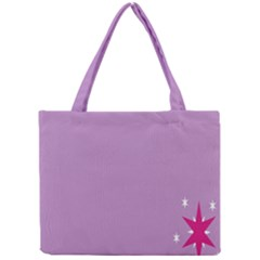Purple Flagred White Star Mini Tote Bag by Alisyart