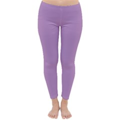 Purple Flagred White Star Classic Winter Leggings