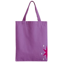 Purple Flagred White Star Zipper Classic Tote Bag by Alisyart
