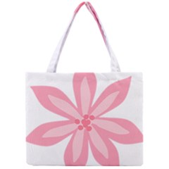 Pink Lily Flower Floral Mini Tote Bag by Alisyart