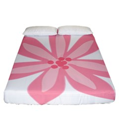 Pink Lily Flower Floral Fitted Sheet (california King Size) by Alisyart