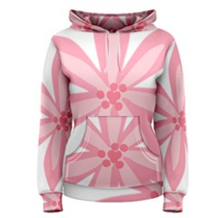 Pink Lily Flower Floral Women s Pullover Hoodie