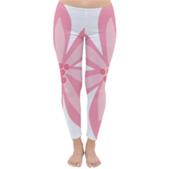 Pink Lily Flower Floral Classic Winter Leggings