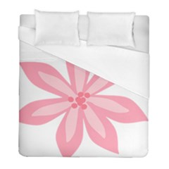 Pink Lily Flower Floral Duvet Cover (full/ Double Size) by Alisyart