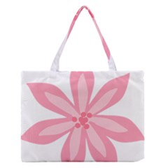 Pink Lily Flower Floral Medium Zipper Tote Bag by Alisyart