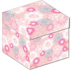 Flower Floral Sunflower Rose Pink Storage Stool 12   by Alisyart