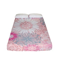 Flower Floral Sunflower Rose Pink Fitted Sheet (full/ Double Size) by Alisyart