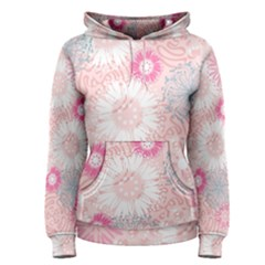 Flower Floral Sunflower Rose Pink Women s Pullover Hoodie