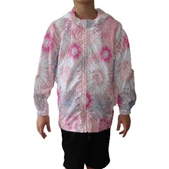 Flower Floral Sunflower Rose Pink Hooded Wind Breaker (kids) by Alisyart