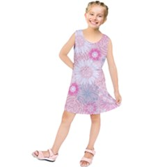 Flower Floral Sunflower Rose Pink Kids  Tunic Dress by Alisyart