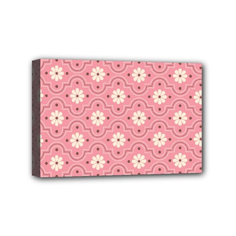 Pink Flower Floral Mini Canvas 6  X 4  by Alisyart