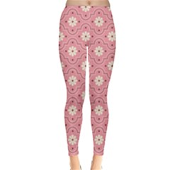 Pink Flower Floral Classic Winter Leggings