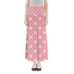 Pink Flower Floral Maxi Skirts by Alisyart