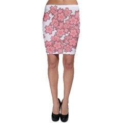 Flower Floral Pink Bodycon Skirt