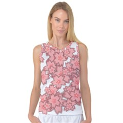 Flower Floral Pink Women s Basketball Tank Top