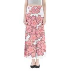 Flower Floral Pink Maxi Skirts by Alisyart