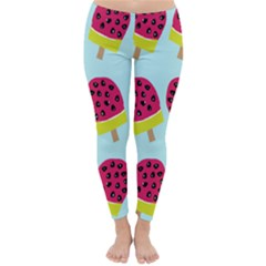 Watermelonn Red Yellow Blue Fruit Ice Classic Winter Leggings