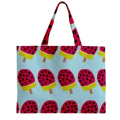 Watermelonn Red Yellow Blue Fruit Ice Zipper Mini Tote Bag by Alisyart