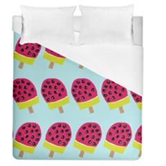 Watermelonn Red Yellow Blue Fruit Ice Duvet Cover (queen Size)
