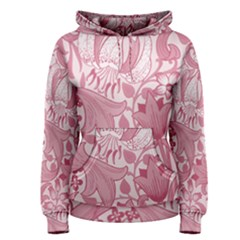 Vintage Style Floral Flower Pink Women s Pullover Hoodie