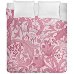 Vintage Style Floral Flower Pink Duvet Cover Double Side (california King Size) by Alisyart