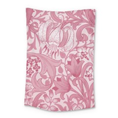 Vintage Style Floral Flower Pink Small Tapestry by Alisyart