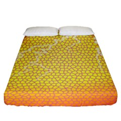 Exotic Backgrounds Fitted Sheet (queen Size) by Simbadda