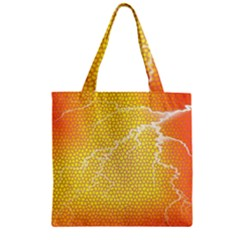 Exotic Backgrounds Zipper Grocery Tote Bag