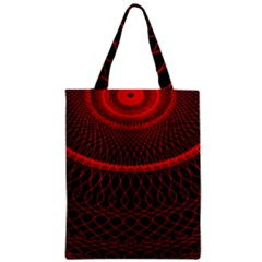 Red Spiral Featured Classic Tote Bag by Alisyart