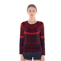 Red Spiral Featured Women s Long Sleeve Tee