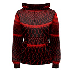 Red Spiral Featured Women s Pullover Hoodie