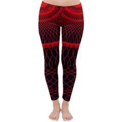 Red Spiral Featured Classic Winter Leggings