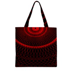 Red Spiral Featured Zipper Grocery Tote Bag by Alisyart