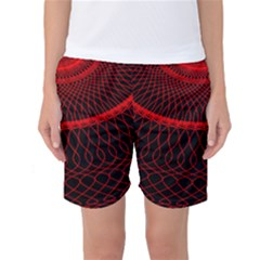 Red Spiral Featured Women s Basketball Shorts by Alisyart