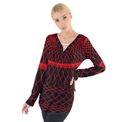 Red Spiral Featured Women s Tie Up Tee by Alisyart