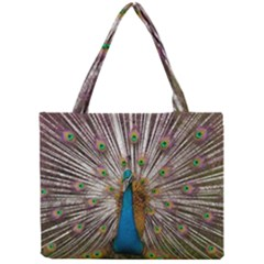 Indian Peacock Plumage Mini Tote Bag by Simbadda
