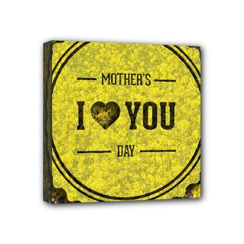 Happy Mother Day Mini Canvas 4  X 4  by Simbadda