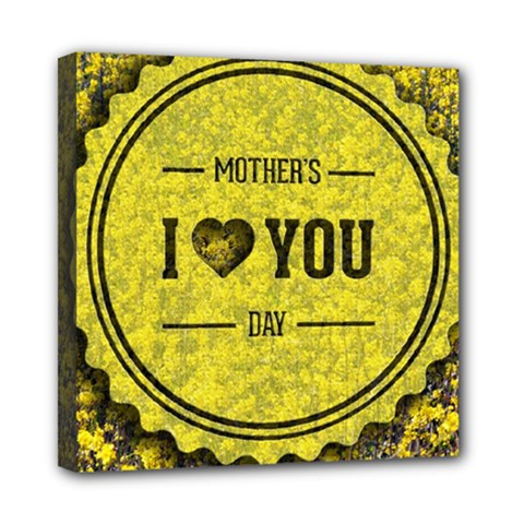 Happy Mother Day Mini Canvas 8  X 8  by Simbadda