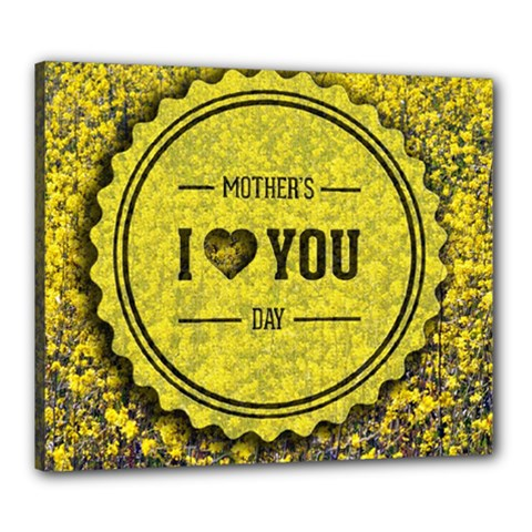 Happy Mother Day Canvas 24  X 20