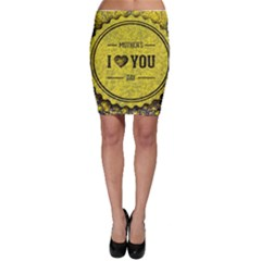 Happy Mother Day Bodycon Skirt by Simbadda