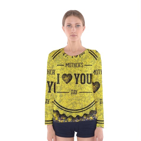 Happy Mother Day Women s Long Sleeve Tee by Simbadda